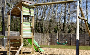 Cockercombe - Children will love the sturdy play equipment and trampoline
