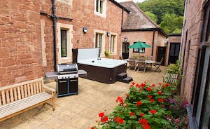 The Old Rectory - The courtyard is completely private, with a backdrop of wooded hills