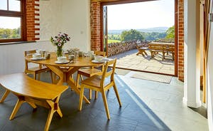Kitchen and outdoor terrace with stunning views