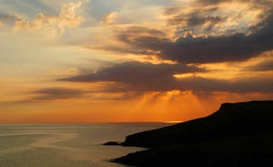 Sunset towards Pentire