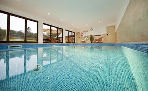 Flossy Brook -  What a treat! A wonderful integral indoor heated swimming pool - fun for all!