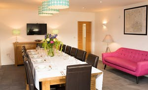 Fuzzy Orchard - Stylish, bright and airy - the perfect setting for a happy celebratory dinner