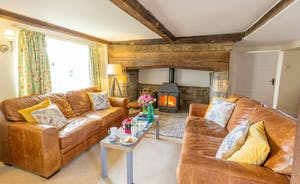 Frog Street: A cosy sitting room with a big old inglenook and a wood-burner