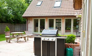 Cockercombe - a big gas barbecue makes al fresco dining so easy!