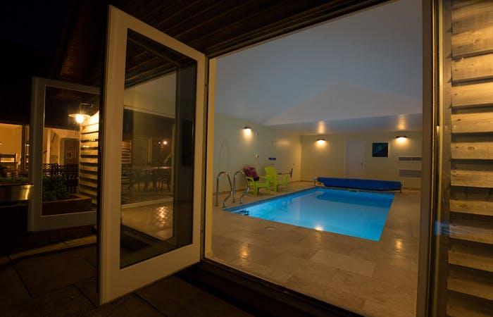 sleeps 14 in 6 en suite bedrooms with indoor pool at the foot of the quantock hills in somerset