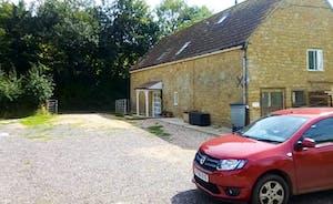 Plenty of parking outside the Barn