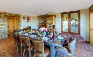 Dancing Hill - The dining room - that table!