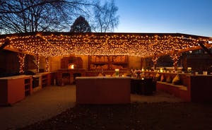 Pitmaston House - Hundreds of fairy lights adorn the outdoor eating pavilion