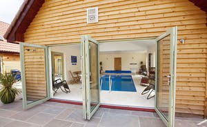 Crowcombe - Luxury lodge sleeping 14, with a private indoor pool