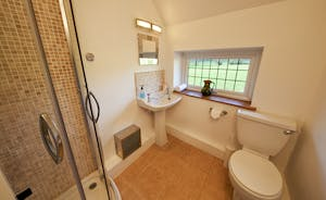Ilbeare - The shared shower room between Bedrooms 3 and 4 - what a lovely outlook!