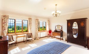Bossington Hall - Farley Water Bedroom - Another spacious room, furnished in elegant Edwardian style