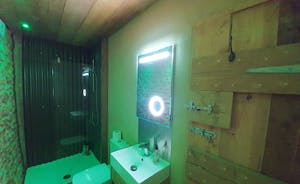 Sheep shed shower room