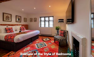 An example of the style of bedrooms at Pigertons