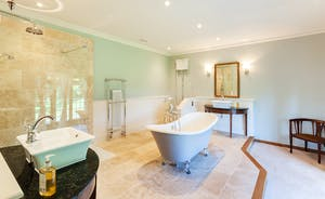 Bossington Hall - A very elegant and spacious bathroom for the Master Bedroom