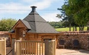 Foxhill Lodge - The Scandinavian style BBQ Lodge can be used any time of year