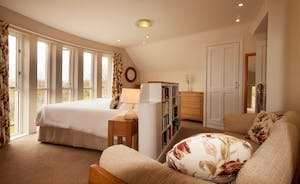 The Cottage Beyond: The sofa in Bedroom 2 can be used as two extra  single beds, so it makes an excellent room for families