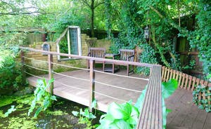 One of pond seating areas