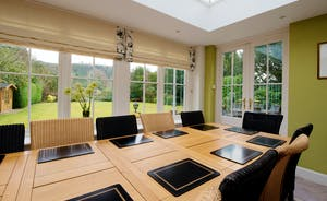 Garden Court - The orangery/dining room is a light filled space that overlooks the garden