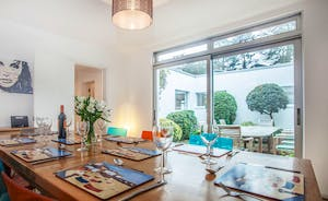 Large dining table with access to the internal courtyard