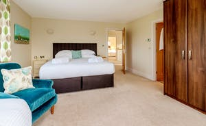 Herons Bank - Bedroom 2: Sleeps 3 in a superking and a single, or 3 single beds