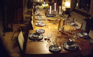 All 28 guests can dine together in beautiful dining room