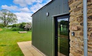 Pig shed front door