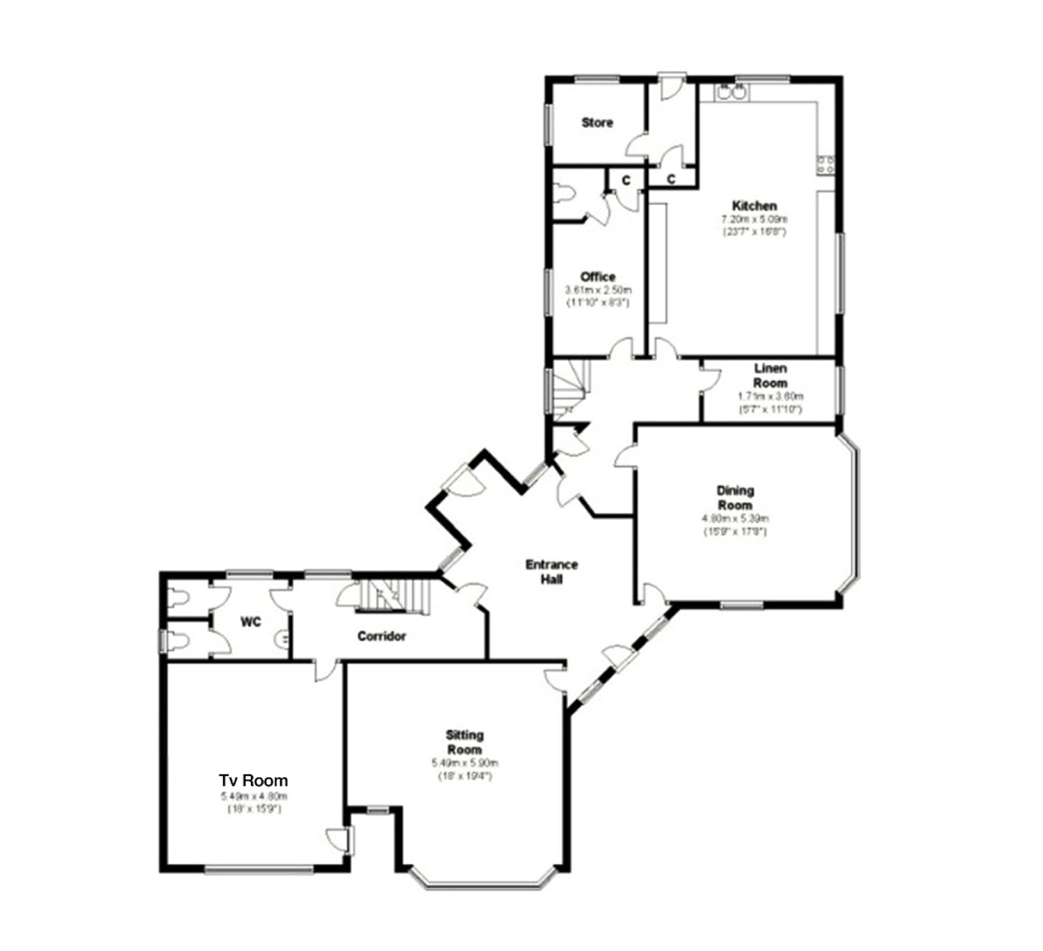 Floorplans the beach house exmouth devon the beach for Beach house plans uk