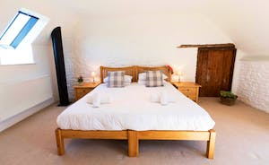 Whinchat Barns - Wagtail Corner, Bedroom 2: Sleeps 3 in a superking and a single bed, or in 3 singles