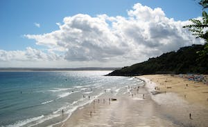 Carbis Bay Beach at St Ives best way to visit is by train from St Erth spectacular coastal track , unforgettable!