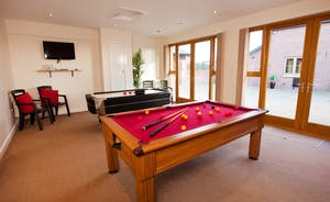 Wayside: The games room in the Annexe Suite has a pool table and air hockey
