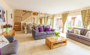 Crowcombe: Travertine flooring throughout the ground floor adds to the feeling of space and light