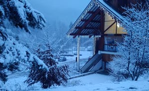 Leisure Facility under snow & dusk