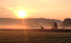 Somerset at dawn is something very special. Wake up to the tranquillity that is Chilcott's Barn.