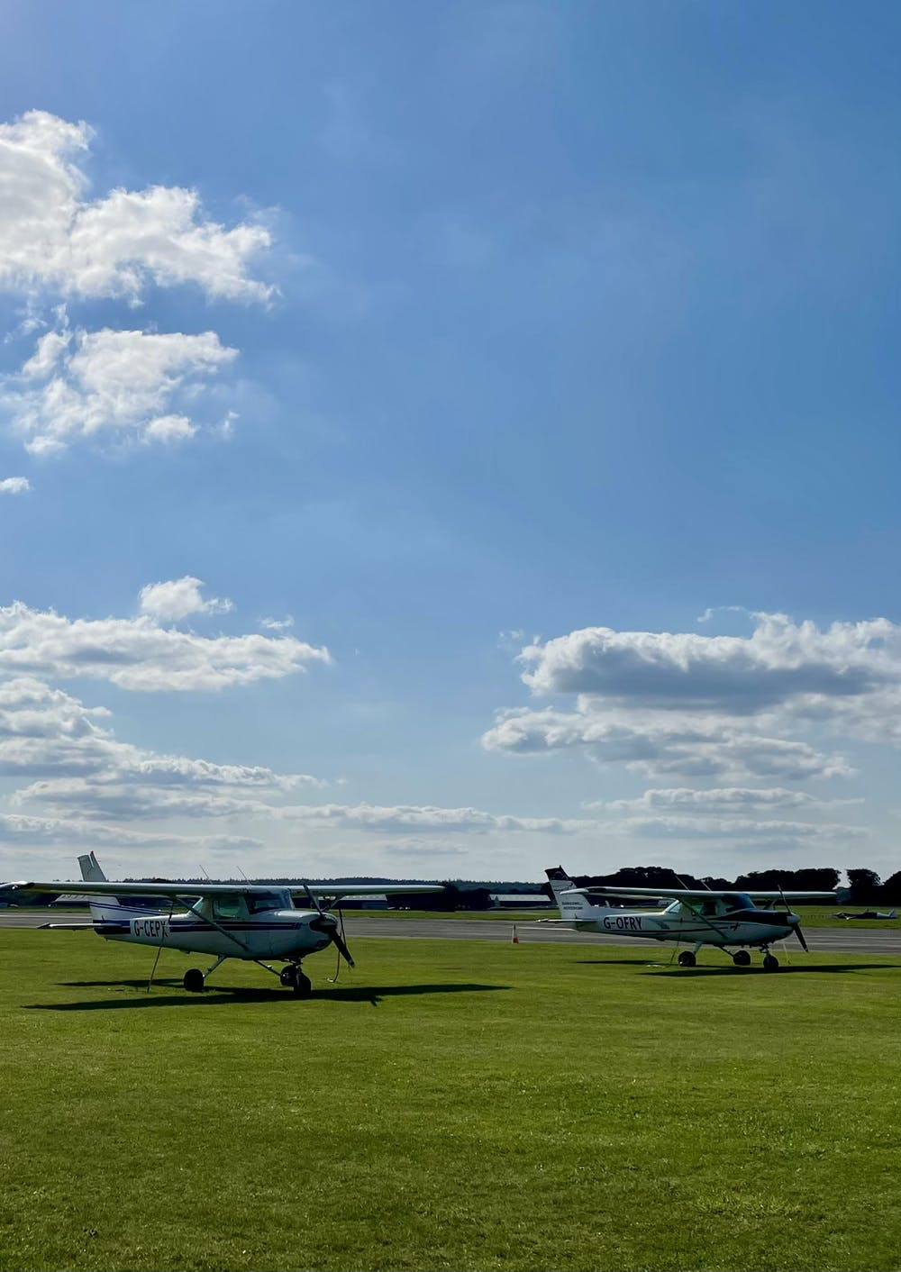Two planes side by side at Dunkeswell Airfield