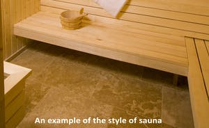 Pound Farm - Sit back for a relaxing chat in the sauna