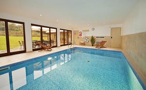 Flossy Brook -  A luxury self catering lodge with a fantastic integral indoor heated swimming pool