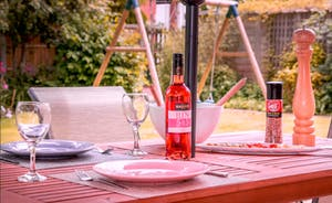 Enjoy some al fresco dining in the private garden