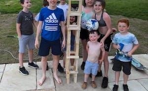 Giant Jenga family fun
