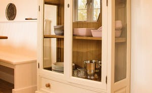 Kitchen glass fronted cabinet