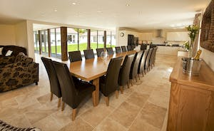Holemoor Stables - A huge dining table to seat all 18 guests - great for celebratory dinners