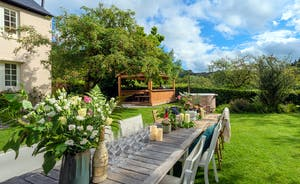 Pitsworthy - On warmer days the garden makes a delightful setting for outdoor dining