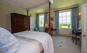 Asham House - Bedroom 1: Wonderful views to wake up to