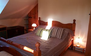 Bedroom 1 with kingsize double bed and ensuite. Cupboards & drawers.
