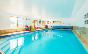 Indoor , heated to 30' swimming pool at Lavender Barn