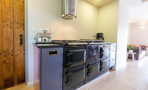 The Benches - The kitchen has an Aga as well as an electric oven and gas burner