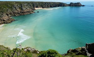 5 miles from Lamorna View Porthcurno beaches from the Minack Theatre, UK's caribbean!