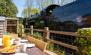 Breakfast with a view of The West Somerset Steam Railway Trains