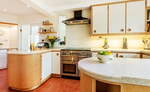 The Cottage Beyond: The bespoke kitchen is very well equipped for catering for large groups