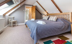 Bedroom 6 - Master Superking bed with stunning views and spacious en suite shower room, 2nd floor