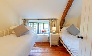 Pippinsands, Stonehayes Farm - Bedroom 5 has a double room leading through to a twin room, and an en suite shower room
